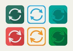 Uppdatera cirkelvektorns ikon vektor