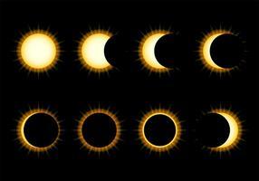 Sonnenfinsternis Icon Vektor