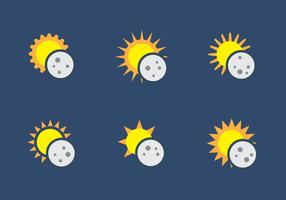 Solförmörkelse vektor