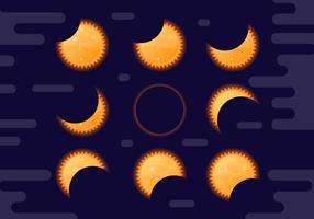 Kostenlose Sonnenfinsternis Vektor