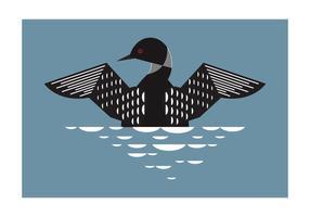Geometrische Loon Vogel Hintergrund Vektor-Illustration