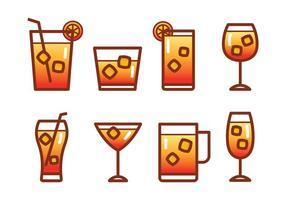 Mocktail icon set vektor