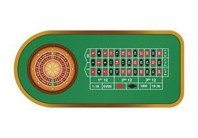 Gratis American Roulette Table vektor