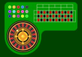 Beispiel Vektor von Roulette Tabelle