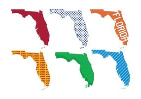 Florida karta vektor uppsättning