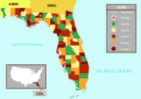 Florida Karte Infografik