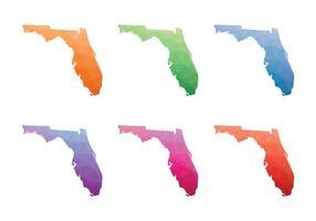 Geometrische Low-Poly Florida Karte