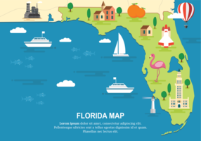 Florida karta vektor illustration