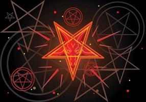 Pentagram Luzifer Symbol vektor
