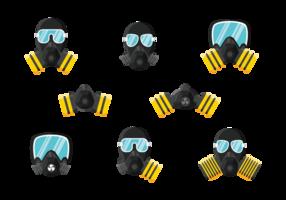 Respirator Ikoner Vector