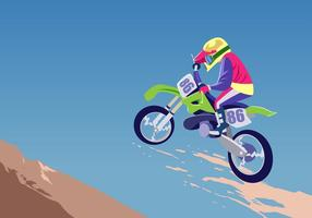Motorcrossvektor i aktion vektor