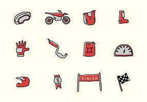 Dirt Bike Icon und Elemente vektor