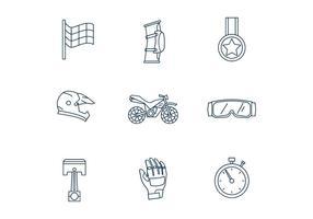 Motorcross Icons vektor