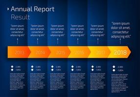 Roadmap Infografischer freier Vektor