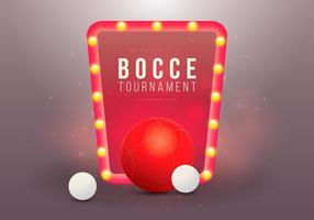 Bocce Turnier Illustration