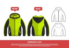 Windbreaker jacka vektor illustration