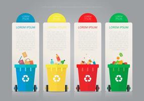Recycling und Wiederverwendung Zinn Box und andere Müll