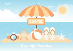 Gratis Summer Beach Elements Background vektor