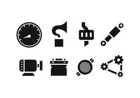 Bil reservdelar ikoner vektor