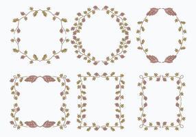 Lakritze Blumenrahmen Vorlage Grafik Elemente vektor
