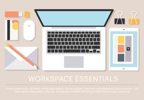 Freier Vektor Arbeit Raum Essencials