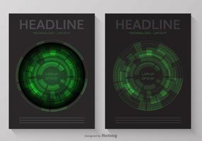Zusammenfassung Technologie Cover Layout Vektor Design