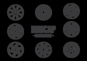 Hubcap Icons Vektor