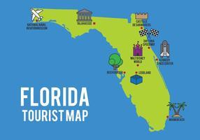Tecknadskarta av Florida State vektor