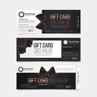 elegante Geschenkkartenvorlage vektor