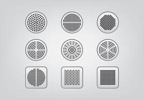 Lautsprecher-Grill-Icons vektor