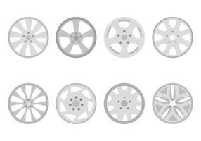 Plana hubcap-vektorer
