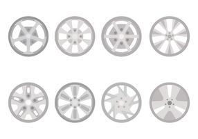 Flache Hubcap-Vektoren