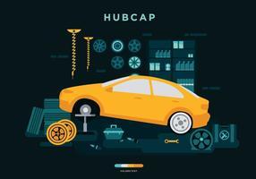 Kostenlose Hubcap Installation Vector