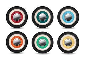 Vektorhjul med olika färger vektor