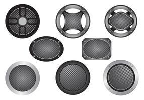 Lautsprecher-Grill-Vektor-Set vektor