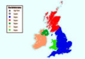 Britische Inseln Karte Infografik