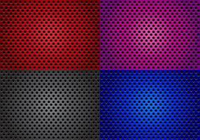 Högtalargrill med olika färgvektorer vektor