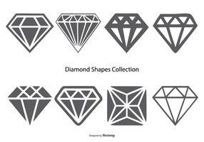 Vektor diamant former samling
