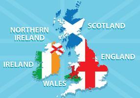 Brittiska öarna karta vektor