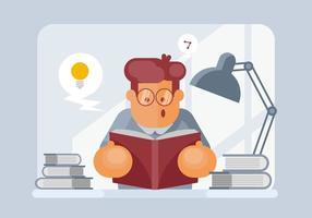 Bücherwurm Illustration
