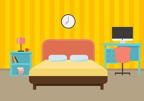 Sängkläder Design Gratis Vector