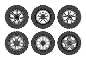 Retro Auto Räder vektor