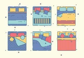 Gratis sängklädervektor vektor