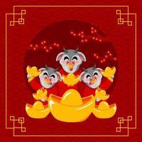 chinesischer Neujahrsochse vektor