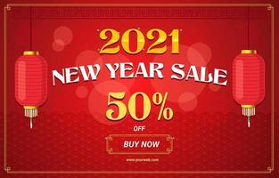 fantastiskt kinesiskt nyår försäljning marknadsföring kit vektor
