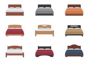 Säng ikoner Set vektor