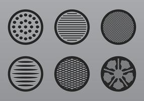 Högtalare grill ikon vektor