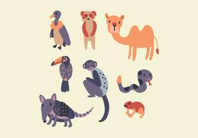Amazonische Tiere vektor