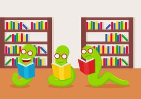 Gratis Utomordnade Bookworm Vectors