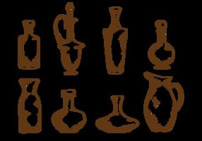 Handgezeichneter Dekanter
